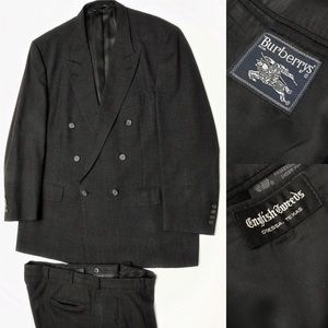 Burberry's double breasted wool suit 48L/ 40X30
